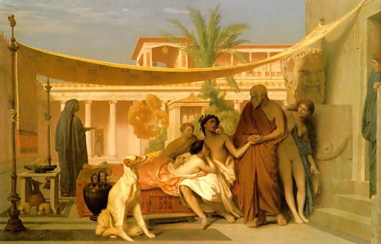 Socrates seeking Alcibiades in the House of Aspasia. Jean-Léon Gérôme