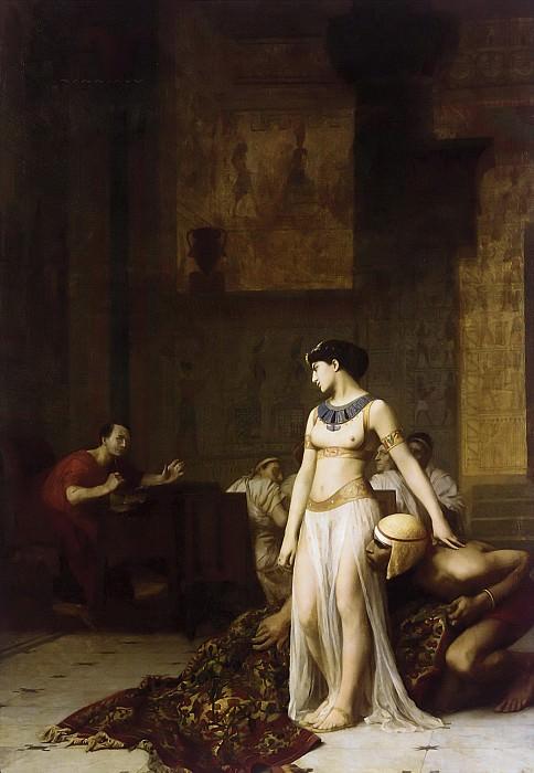 CLEOPATRE ET CESAR. Jean-Léon Gérôme