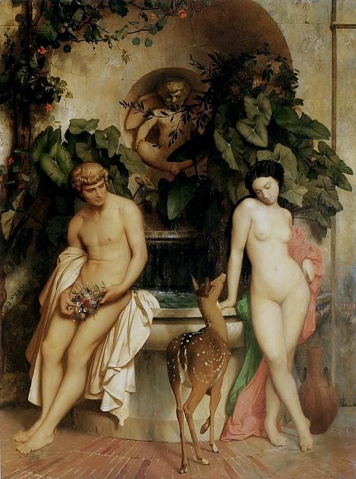 Daphnis and Chloe. Jean-Léon Gérôme