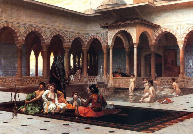 The Harem on the Terrace. Jean-Léon Gérôme
