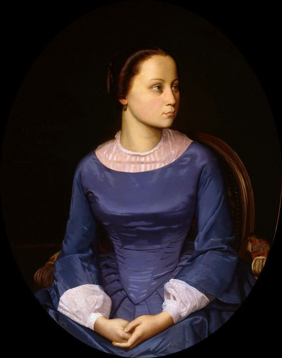 Young woman in blue. Jean-Léon Gérôme