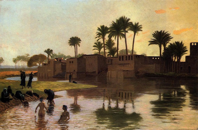 Bathers by the Edge of a River. Jean-Léon Gérôme