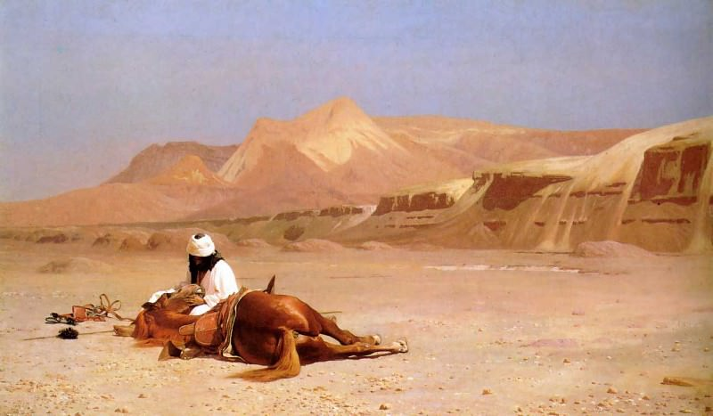 The Arab and his Steed. Jean-Léon Gérôme