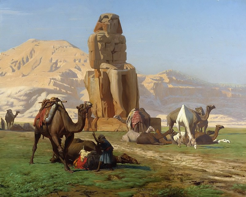 The Colossus of Memnon. Jean-Léon Gérôme