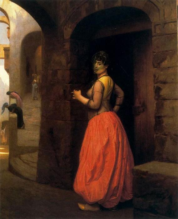 Woman from Cairo, Smoking a Cigarette. Jean-Léon Gérôme