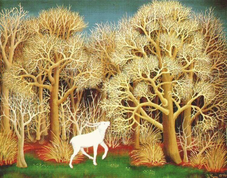 deer in the wood 1956. Generalic