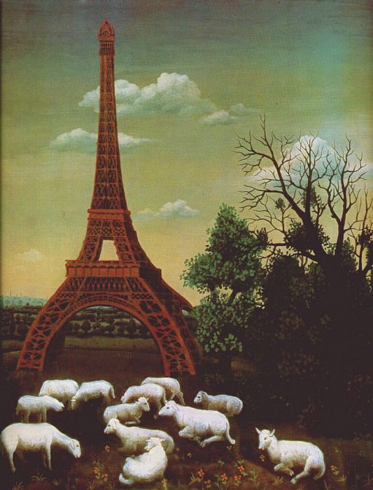 sheep by the eiffel tower. Generalic