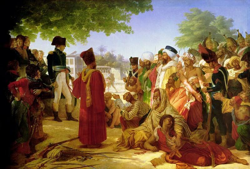 Наполеон Бонапарт (1769-1821) прощающий повстанцев в Каире, 23 октября 1798. Пьер Нарсис Герен