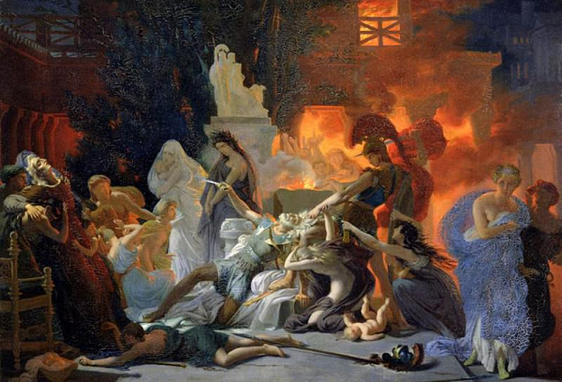 The Death of Priam. Pierre-Narcisse Guerin