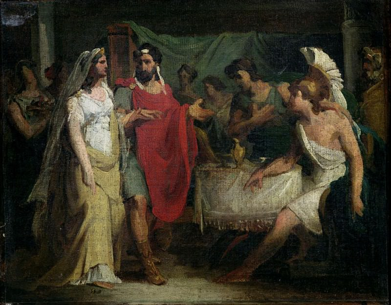 The Wedding of Alexander the Great (356-323 BC) and Roxana. Pierre-Narcisse Guerin