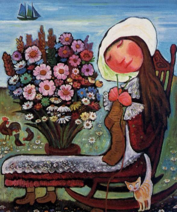 Tricoteuse Au Bouquet. Neree De Grace