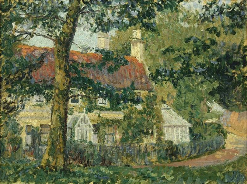 A Red-Roofed Cottage, Somerset. Spencer Frederick Gore