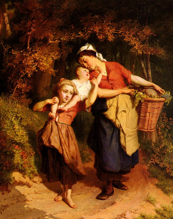 Returning From The Market. Theodore Gerard