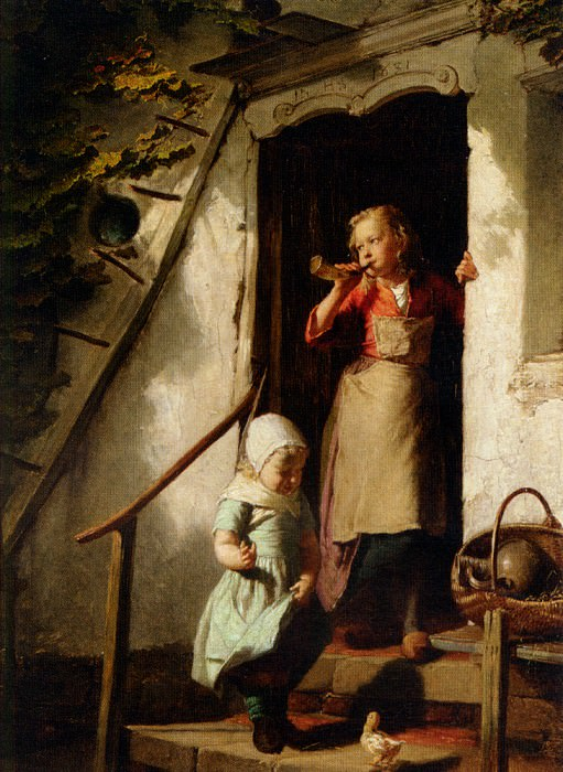 Feeding the Chicks. Theodore Gerard