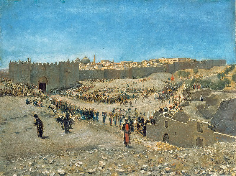 Вид Иерусалима. Карл Вильгельм Генц