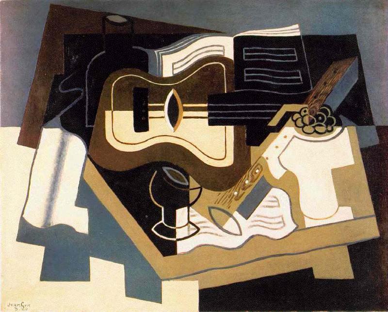 gris.guitar-clarinet. Juan Gris