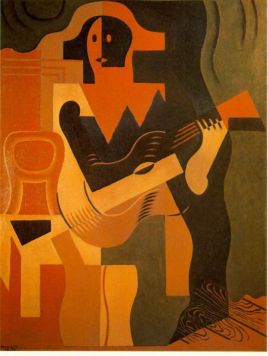 Gris Harlequin with guitar, 1919, 116x89 cm, Galerie Louise. Juan Gris