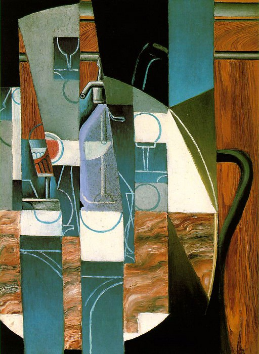 Gris The siphon, 1913, 81x65 cm, Rose Art Museum, Brandeis U. Juan Gris
