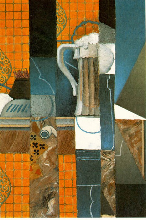Gris Glass of beer and playing cards, 1913, 52.5x36.5 cm, Co. Juan Gris