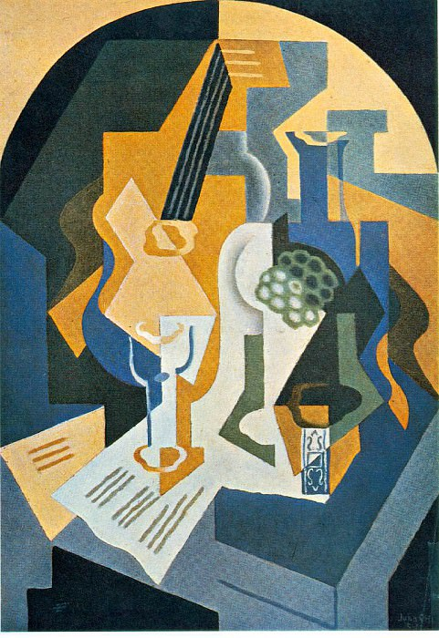Still Life with Fruit Dish and Mandolin, 92x65 cm, Priv. Juan Gris