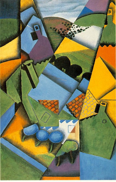 Gris Landscape with house at Ceret, 1913, 100x65 cm, Galeria. Juan Gris