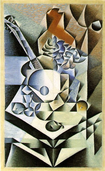 Gris Still life with flowers, 1912, 112.1 x 70.2 cm, Moma NY. Juan Gris