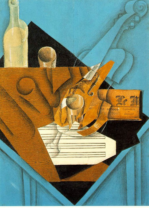 Musicians table, 1914, Fusain, graphite, and colored p. Juan Gris