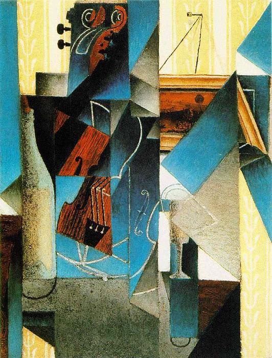 gris.violin-engraving. Juan Gris