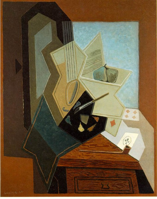 The painters window, 1925, 100x81 cm, The Baltimore Mu. Juan Gris