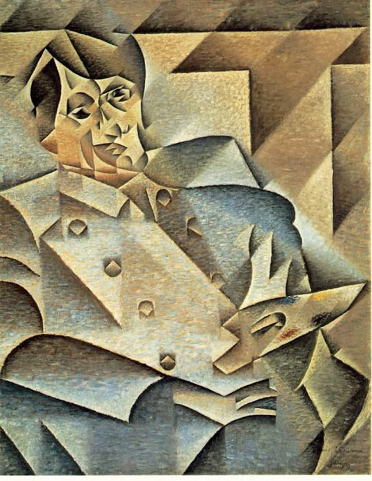 Portrait of Picasso, 1912, 93.4x74.3 cm, The Art Instit. Juan Gris