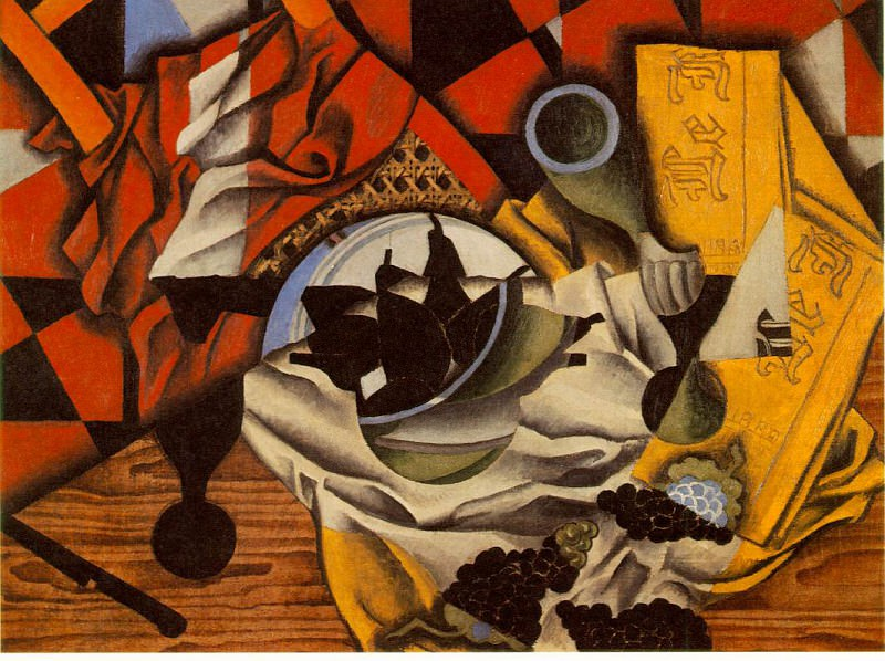 Gris Pears and grapes on a table, 1913, 54.5x73 cm, Mr. amd. Juan Gris