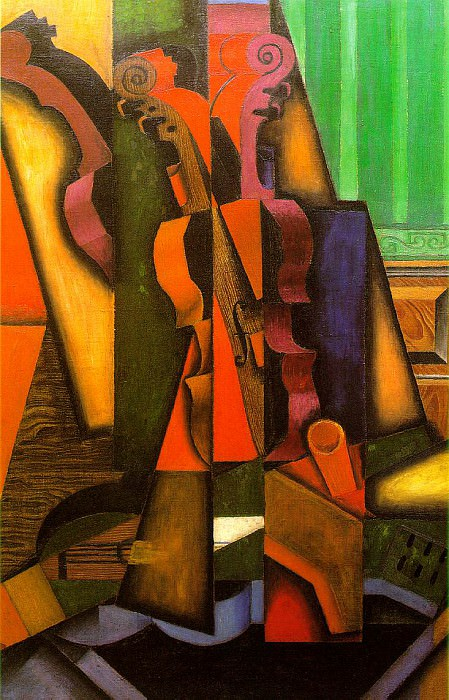 Violin and guitar, 1913, 100x65.5 cm, The Colin Collect. Juan Gris