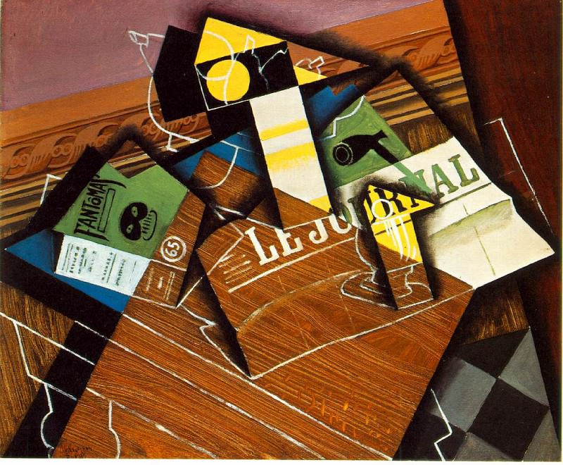 Gris Fantomas (Pipe and Newspaper), 1915, 59.8x73.3 cm, NG W. Juan Gris