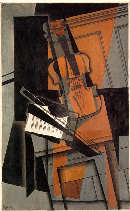 The violin, 1916, 116.5 x 73 cm, Kunstmuseum Basel. Juan Gris