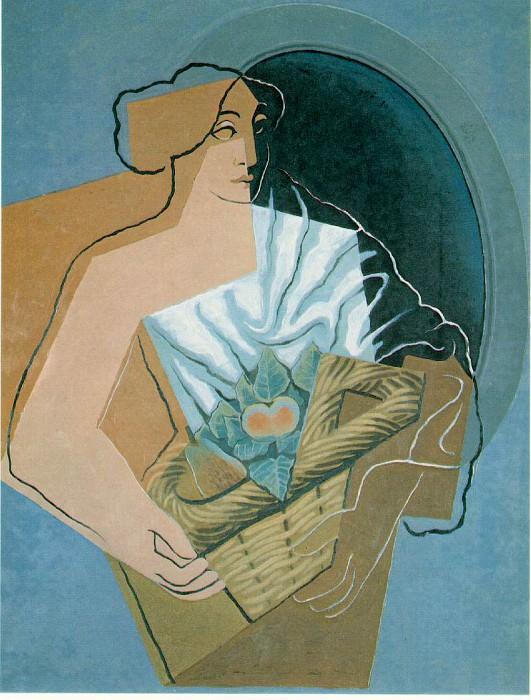 woman-basket. Juan Gris