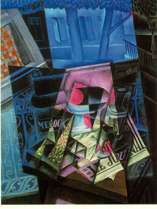 Gris Still life before an open window- Place Ravignan, 1915,. Juan Gris