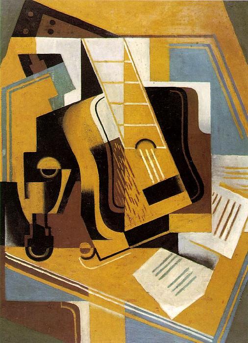 Gris The guitar, 1918, 81x59.5 cm, Telefonica de Espana, S.A. Juan Gris