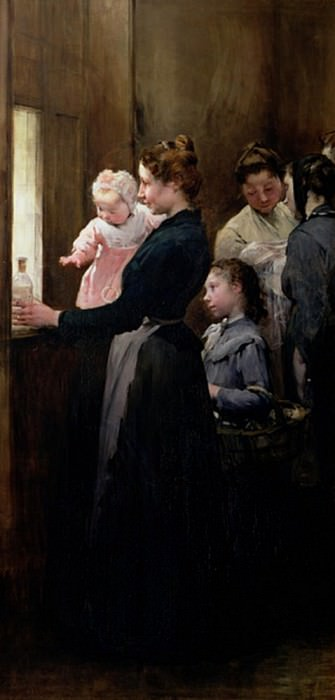 The Drop of Milk in Belleville: Doctor Variots Surgery, The Distribution of the Milk. Henry Jules Jean Geoffroy