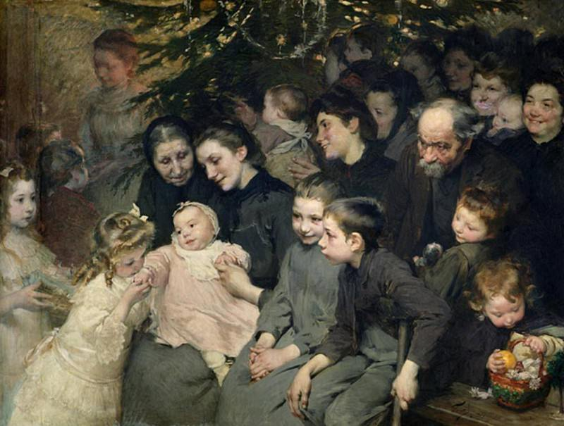 The Drop of Milk in Belleville: The Christmas Tree at the Dispensary. Henry Jules Jean Geoffroy