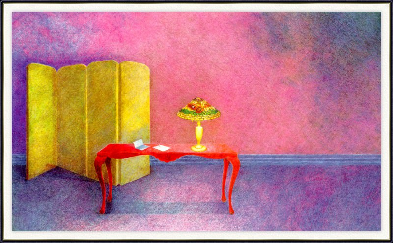 Gonnella-Butler Violet-Interior-with-Lamp-sj. Gonnella