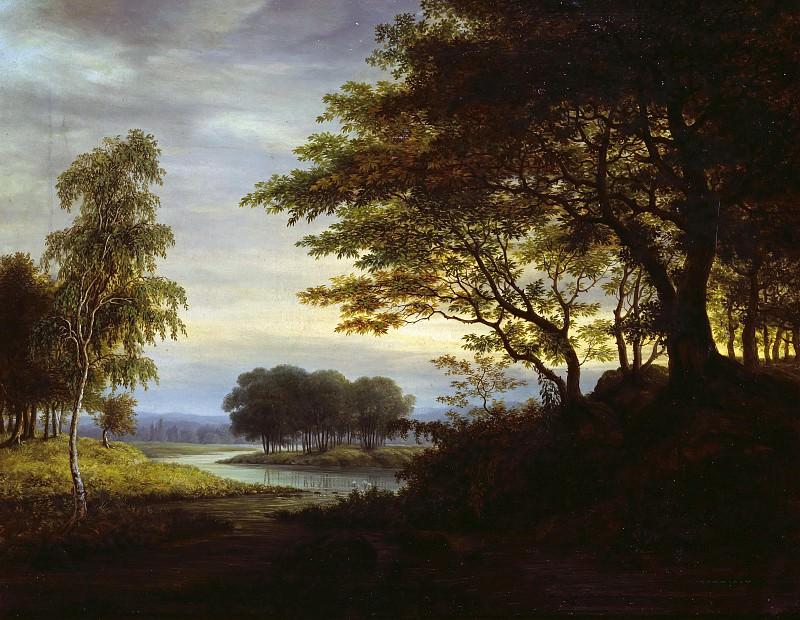 Evening Landscape. Gustav Grunewald