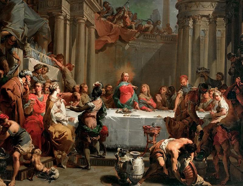 Marriage feast at Cana. Gaetano Gandolfi