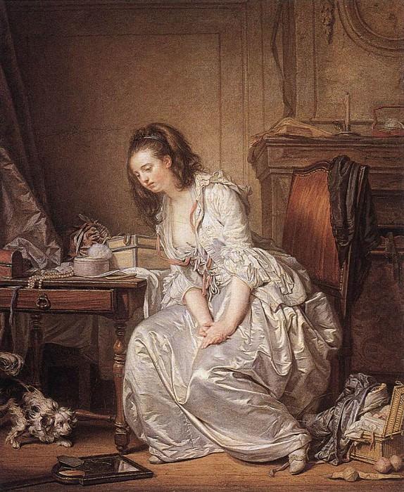 The Broken Mirror. Jean-Baptiste Greuze