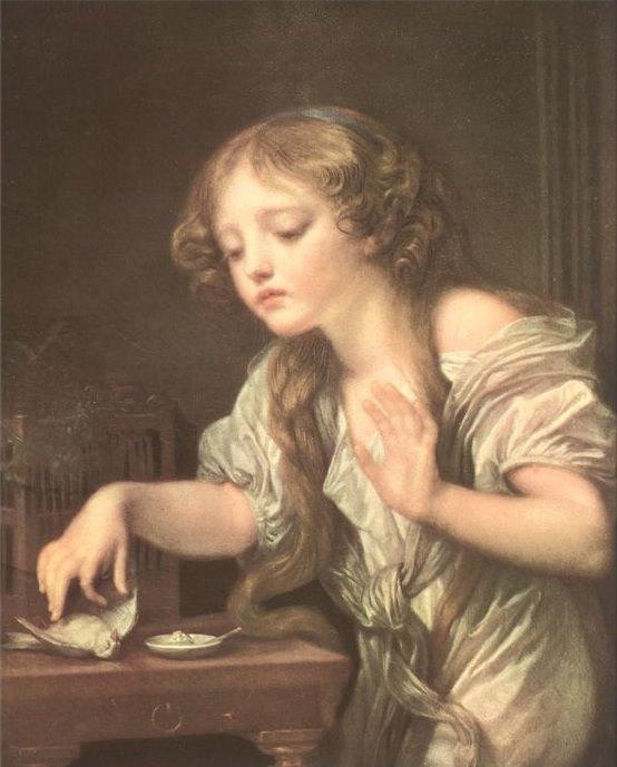 Loiseau mort. Jean-Baptiste Greuze