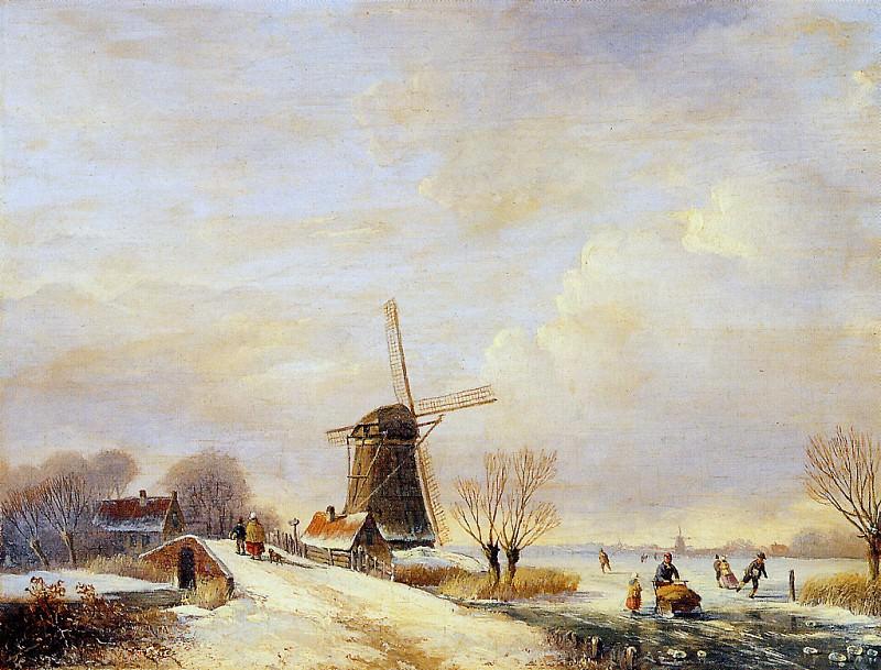 Зимний пейзаж. Пол Джозеф Константин Гэбриел