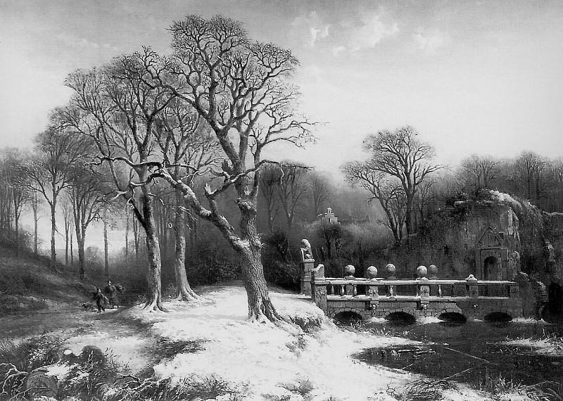 Park of castle Heemstede Sun. Paul Joseph Constantine Gabriel
