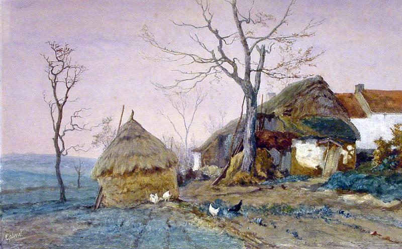 Gabriлl Paul Joseph Constatin A sunlit farm Sun. Пол Джозеф Константин Гэбриел