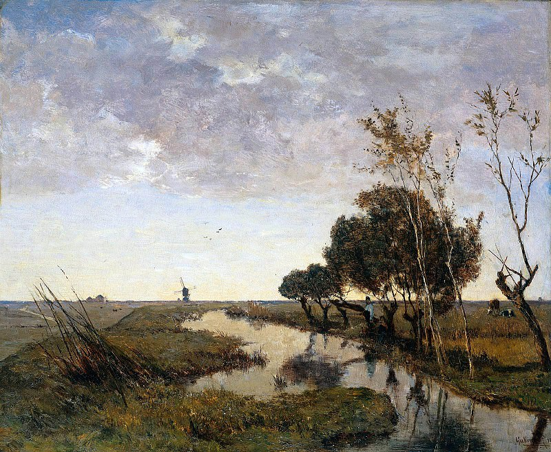 Watercourse at Abcoude Sun. Paul Joseph Constantine Gabriel