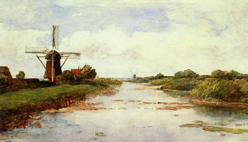 A Windmill Near Abscoude. Paul Joseph Constantine Gabriel