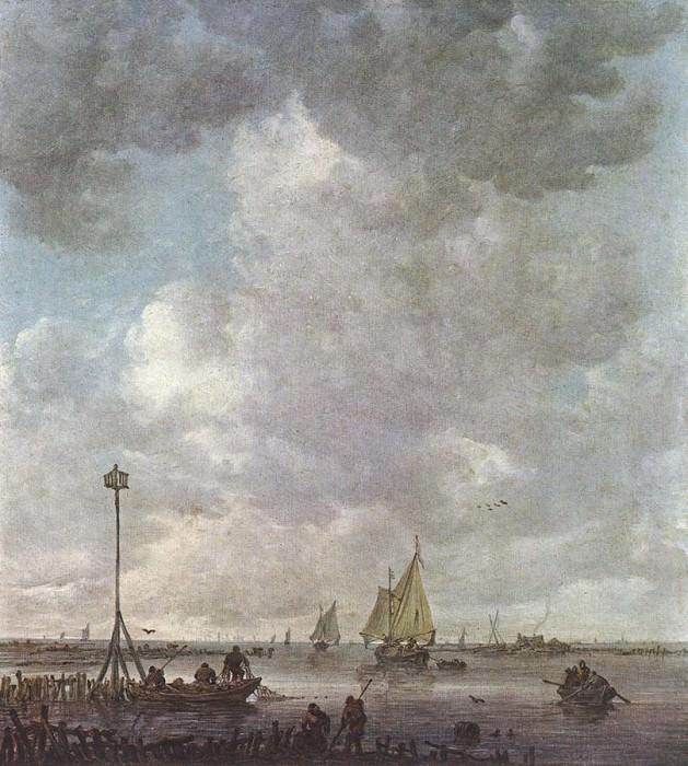 Marine Landscape with Fishermen. Jan Van Goyen